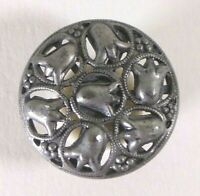 Bouton ancien - Ajouré - Art Nouveau - 23 mm - 1900 - Art Nouveau Button