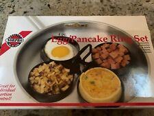 Norpro 4-Piece Nonstick Egg/Pancake Ring Set, 3.5 Inch Diameter