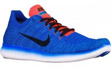 Nike Free RN Flyknit Running Shoes Blue Black White New 831069-405 $130 Mens 11