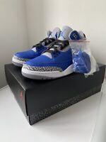 Nike Air Jordan 3 Retro Varsity Royal Blue - Size 9.5UK(10.5US)
