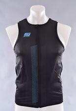 StageOne Triathlon Top Men's Medium Black Blue Sleeveless Tri Tank Jersey
