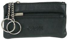 Schlüsseltasche Leder Schlüsseletui mit Reißverschluss und 2 Schlüsselringen Top