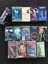 VHS Horror Movie Lot - 15 Movies - Halloween, Omen 1-4 Pumpkin Head Scary Movies