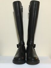 Emporio Armani X30117 Flat Knee High Black Boots UK Size 3, Eu 36, US 5.5