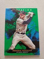 Freddie Freeman 2021 Topps Inception Green Parallel Base Card #40 Atlanta Braves
