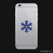 Michigan Snowflake Cell Phone Sticker Mobile MI snow flake snowboard skiing skii
