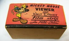 Walt Disney Film Strip box with 5 films Mickey Mouse Donald Duck Bambi on box