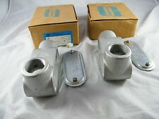 """LOT OF 4 NEW ~ CROUSE-HINDS ~ 1 1/4"""" FORM 7 CONDUIT OUTLET BODY ~  PART # L47"""
