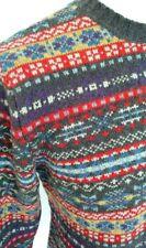 maglione jaquard multicolore realizzato in 100% lambswool in finezza 5