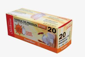 Trashrac 5 gal. TRASH BAGS Handle Tie Premium 20pk Small Waste Baskets 87020 NEW