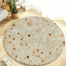 Tortilla Blanket Burrito Blanket Rug 60CM- Corn and Flour Tortilla Throw 60CM