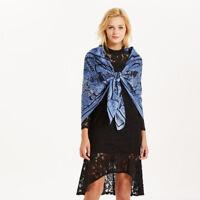 Imitate Twill Silk Scarf Vintage Horse Print Big Shawl Hijab for Women 130*130cm