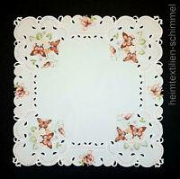 Tischdecke Tischdeckchen Decke Deckchen SCHMETTERLING Frühlung Mitteldecke 85x85