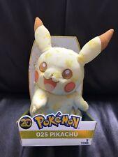 "Pokemon 10"" 20th Anniversaire Pikachu 025 Peluche Jouet Doux Officiel Tomy Open Eye"