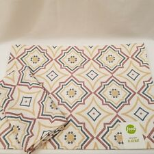 Food Network Placemats And Napkins Textured Multicolor Geometric Design Set of 4