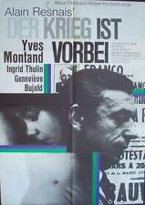 LA GUERRE EST FINIE WAR IS OVER German A1 movie poster RESNAIS YVES MONTAND