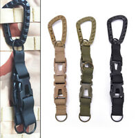 Outdoor Carabiner Hook Webbing Buckle Nylon Molle Belt Hanging Key Ring Clip wr