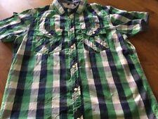 Tolles Hemd Sommerhemd  Gr.176 von Petrol Industries grün blau weiss kariert