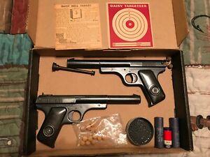 Vintage Daisy Model 118 Targeteer - Two guns - .118 Cal BBs