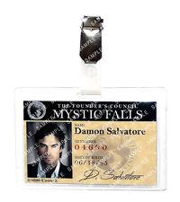 The Vampire Diaries Damon Salvatore ID Badge Cosplay Prop Costume Comic Con