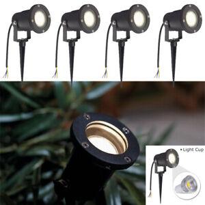 4X Gartenstrahler 3W LED Gartenlampe Außen Strahler Wegbeleuchtung Bodenstrahler