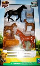 New Ray Kid Childs Country Life Farm Toy Set Horse/Hay/Trough/Fence NIP