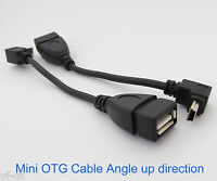 5pcs UP Angle 90D Host OTG Adapter Cable Mini 5pin USB male to USB 2.0 Female