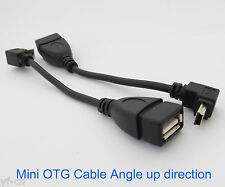 100pcs UP Angle 90D Host OTG Adapter Cable Mini 5pin USB Male to USB 2.0 Female