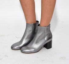NIB Rag & Bone Drea Leather Ankle Bootie Boot, Gunmetal sz 8.5 (38.5-EU) - $525