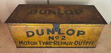 Vintage DUNLOP No2 MOTOR TYRE REPAIR OUTFIT tin box