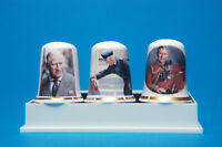 Prince Charles 70th Birthday Box Set of 3 Exclusive China Thimbles B/77