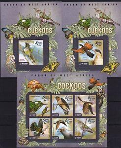 Sierra Leone -  Birds / Cuckoos / Vögel /  des oiseaux - stamps  - MNH** AY