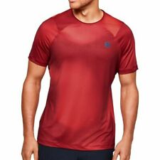Under Armour Rush Heat Gear Short Sleeve Mens Training Top - Red Large       *17