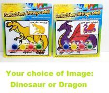 Kids Suncatcher Set Arts Crafts Fun Paint Dinosaur Dragon New