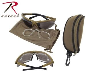 Coyote Spec-Ops Military Ballistic Glasses Tactical Eyewear Kit Rothco 10537