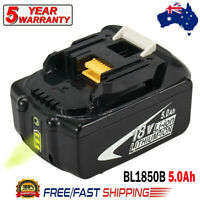BL1850B For Makita 18V LXT Lithium-Ion 5.0Ah Battery BL1860B BL1840 BL1830 Tools