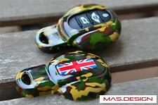 Camouflage Union Jack style key case for MINI COOPER S JCW F54 F56 F55
