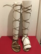 VALENTINO GARAVANI Rockstud Knee Length Gladiator Sandals UK 4/EU 37 RRP £820