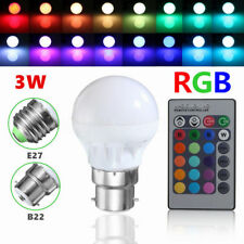 100x E27 3W Dimmable RGB LED Light Bulb Lamp Color Changing IR Remote a AF21