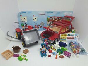 Playmobil Familie Auto + Bauernhof Trecker 6131 9421 viel Zubehör Sammlung