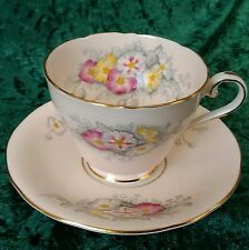 Vintage Rare Aynsley Tea Cup Saucer C1931 Pink White Gold Floral 1st Quality 30s
