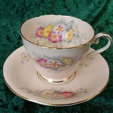 Vintage Raro Aynsley taza de té platillo C1931 Oro Blanco Rosa Floral De Calidad 1st 30s
