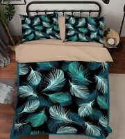 3D Feather Pattern 47 Bed Pillowcases Quilt Duvet Cover Set Single Queen King AU