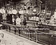 Old Vintage Depression Era Art Deco New York City Bar Interior Photo Picture