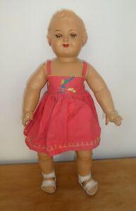 Ancienne poupée France  taille 50, baigneur poupon yeux dormeurs 1950's Doll