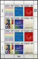 Marshall Inseln 2015 Grußmarken Greeting Stamps Kleinbogen Postfrisch MNH