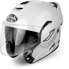 Casco modulare moto Airoh Rev bianco taglia XL convertibile reversibile