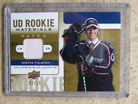 08-09 UD Rookie Materials Patch #RM-NF NIKITA FILATOV RC /15