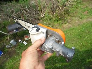 sthil forrestry polesaw head good shape workin/can use on straight shaft trimmer