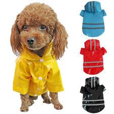 Dog Pet Waterproof Reflective Raincoat Rain Coat Jacket Apparel Clothes Outfits